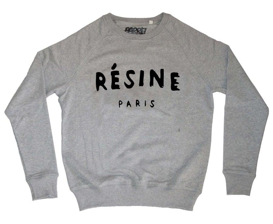 "Image of CREWNECK ""RÉSINE"" GREY"
