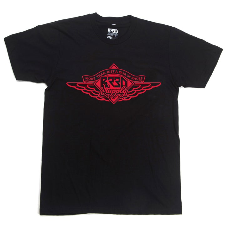 "Image of ""Wings""  T - Black/Red"