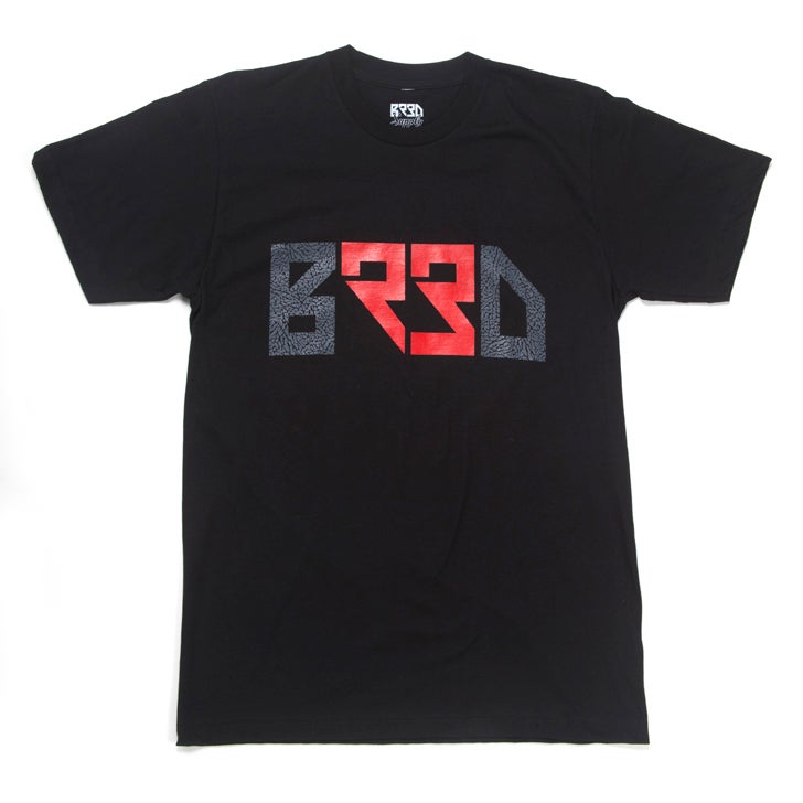 "Image of ""BRED 23"" T - Black"