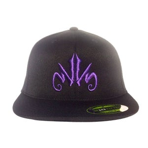 Image of WWS 'Branded' Flatbill Fitted Hat - Purple