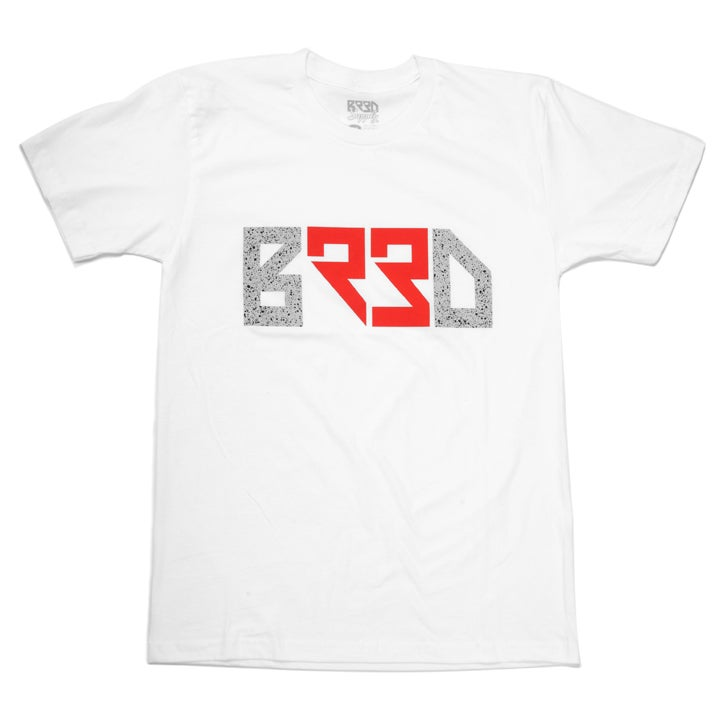 "Image of ""BRED 23"" T - White"
