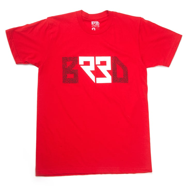 "Image of ""BRED 23"" T - Red"