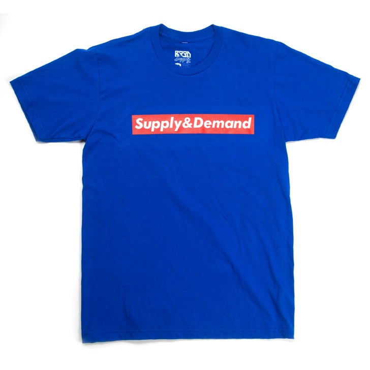 "Image of ""Supply & Demand"" T - Blue"