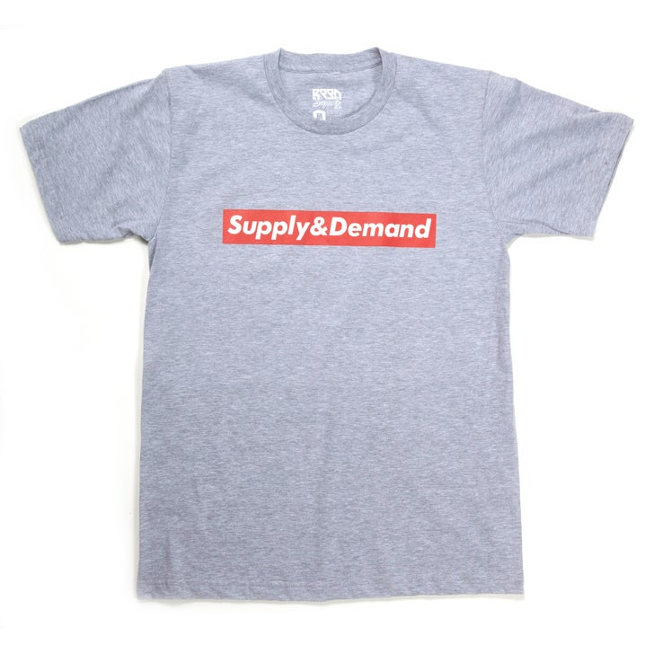 "Image of ""Supply & Demand"" T - Grey Heather"