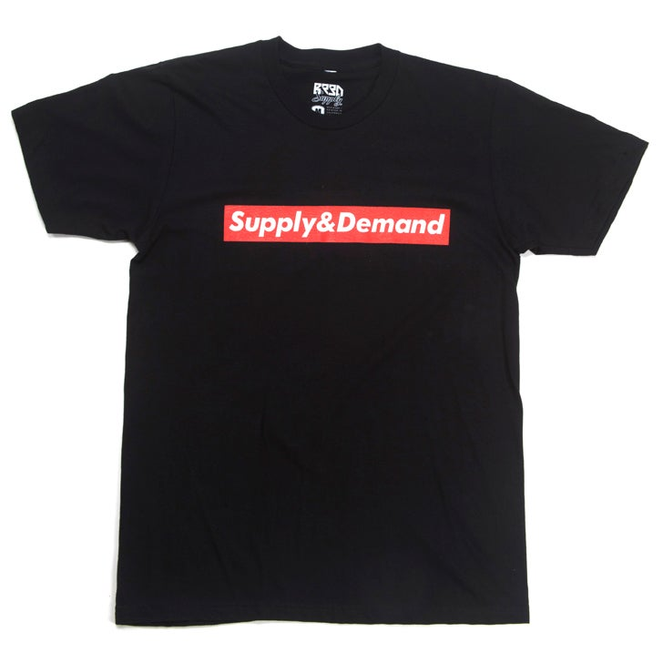 "Image of ""Supply & Demand"" T - Black"