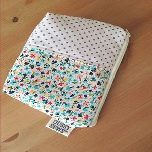 Image of Bitty Floral large zip pouch // Fancy Dot