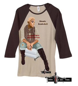 Image of African American Natural Beauty: Blonde Bombshell T Shirt