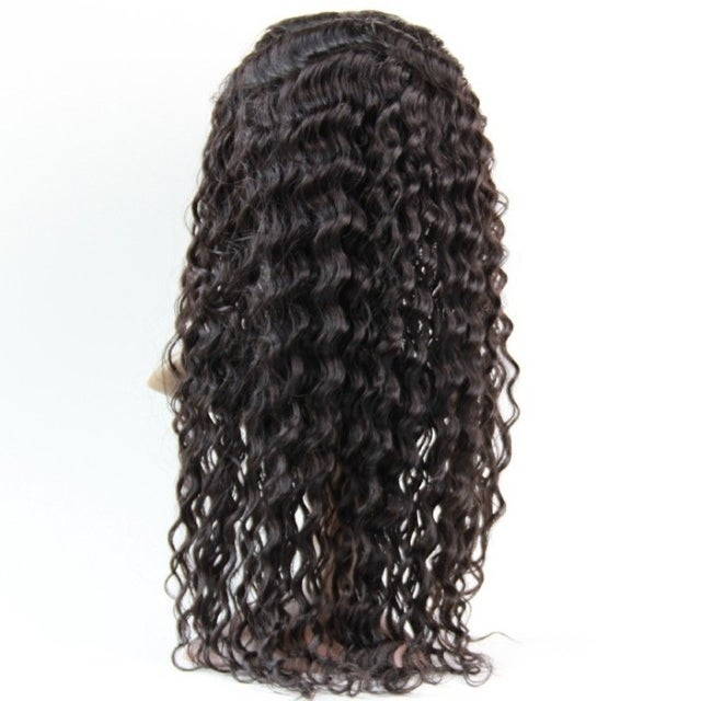 Image of Virgin Brazilian Deep Wave Full Lace Wig