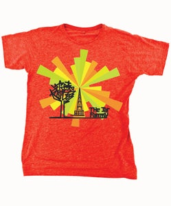 Image of Mens Red T-Shirt with TJF Communication Tower Logo