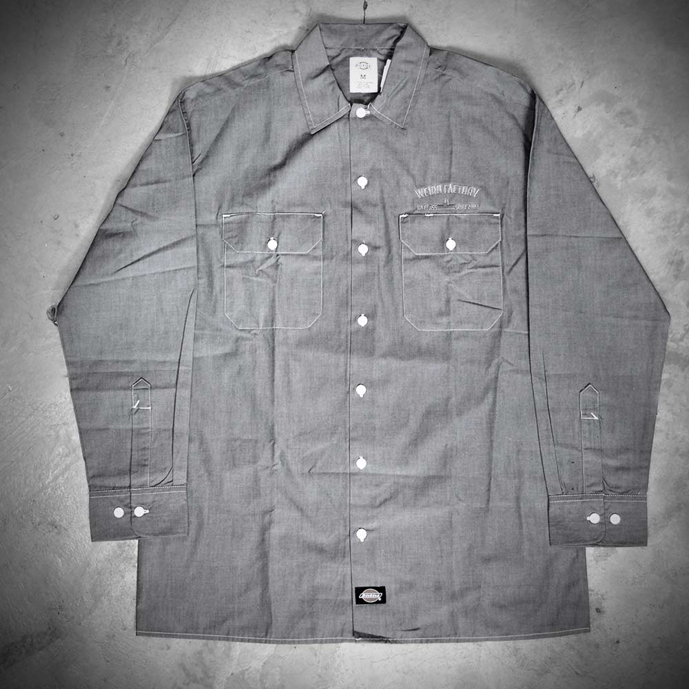 Image of WEIRD X DICKIES SHIRT  WL509  INDIGO GREY