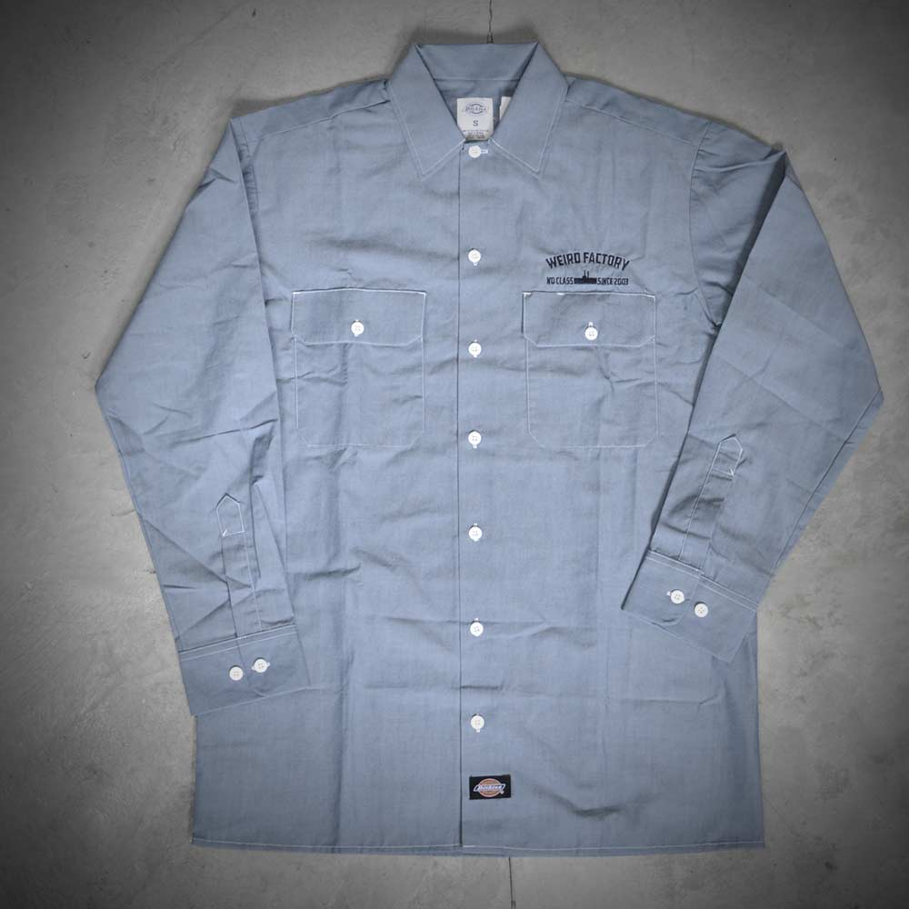 Image of WEIRD X DICKIES SHIRT  WL509  INDIGO BLUE