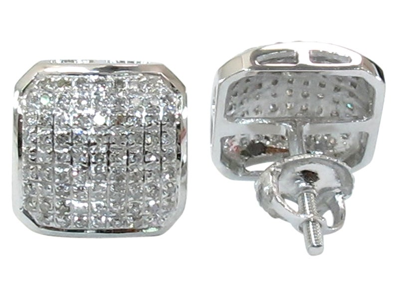 Image of 10kt Diamond Gemetric Earrings
