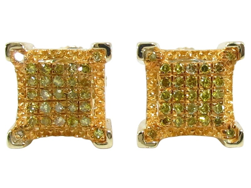 Image of 10kt Yellow Gold Canary 7.5mm Earrings