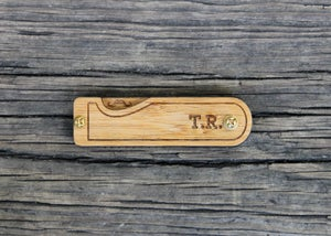 Image of Personalized Handmade Folding Real Wood Mustache Comb