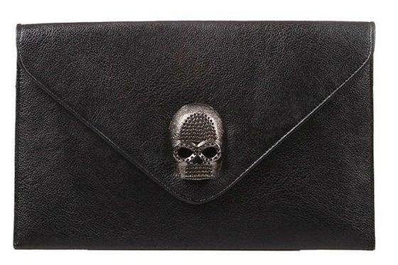 Image of Skull Envelope Clutch