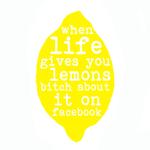 Image of 'when life gives you lemons' tea towel