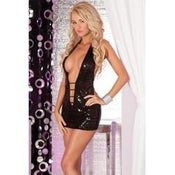 Image of Pink Lipstick Shimmer Sequin Mini Dress Pink