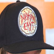 Image of Division East Satanic Pizza Patch Snap Back Hat