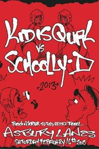 Image of KIQ vs. Schoolly D / Concert Poster 1 of 25