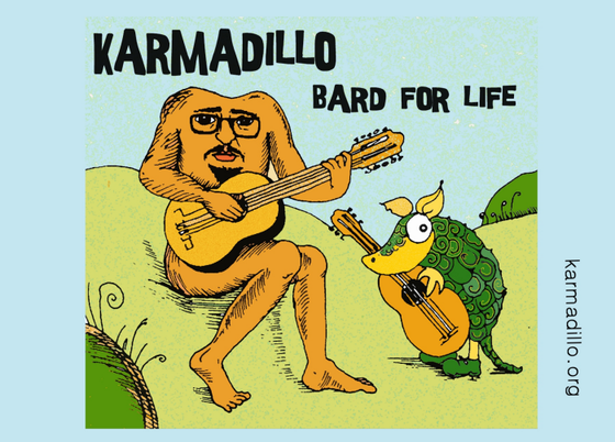 Image of Karmadillo - Bard For Life - Postcard with artwork + Download Code