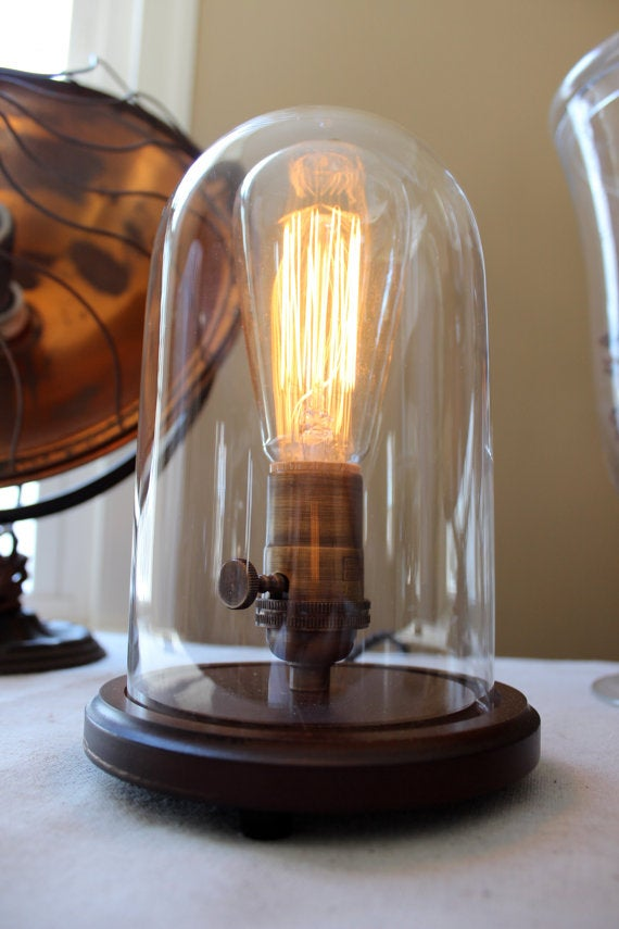 Bell Jar Table Lamp - Small | Stonehill Design