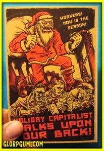 Image of Sweatshop Santa Holiday Cards