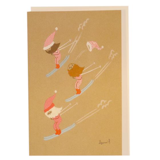 Image of Santa Ski Card by Ayumi Piland