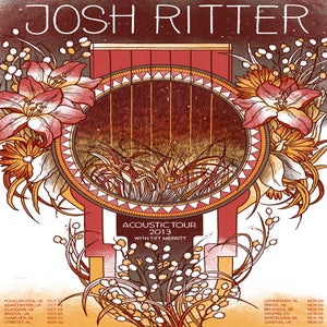 Image of Josh Ritter Poster - Acoustic Tour 2013