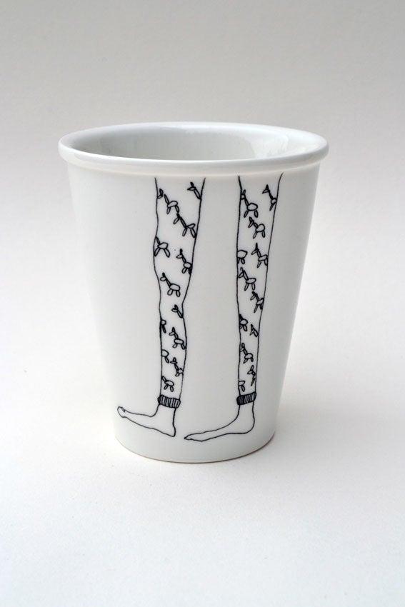 """Image of Gobelet en porcelaine """"Longues jambes"""""""