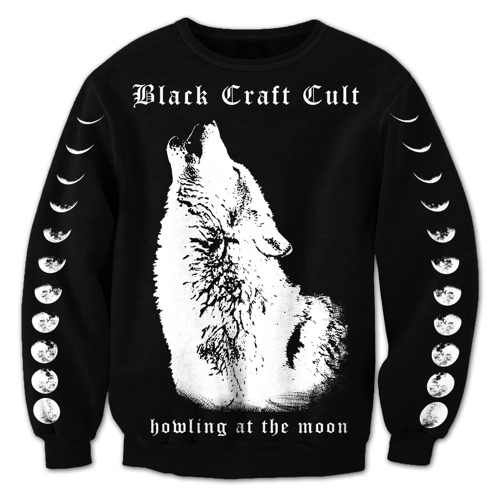 Image of Wolf Howl - Mens Crewneck Sweater