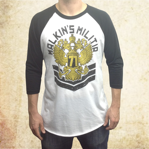 Image of Malkins Militia Baseball Tee