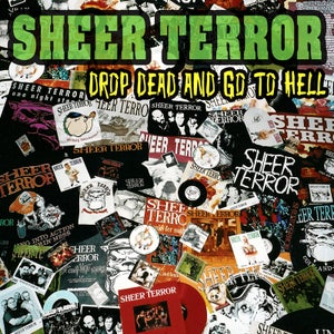 "Image of SHEER TERROR ""Drop Dead And Go To Hell"" CD"