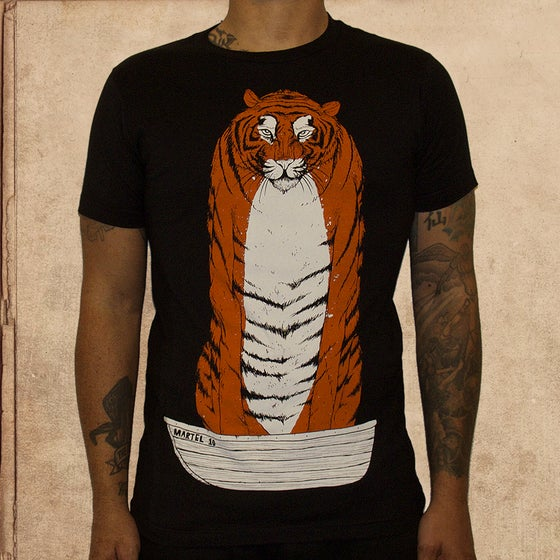 Image of Life of Pi/ Richard Parker - unisex - discharge inks L-2X left