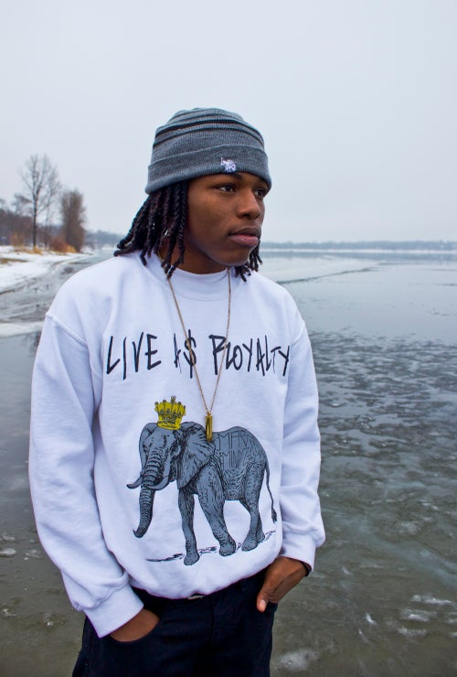 Image of LIVE A$ ROYALTY MENS CREW NECK SWEATERS
