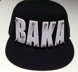 """Image of Acrylic Bolted """"BAKA"""" Black SnapBack"""