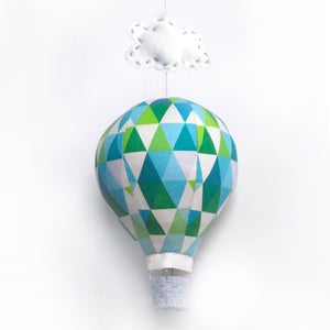 Image of Hot Air Balloon Kit - Emerald Geometric