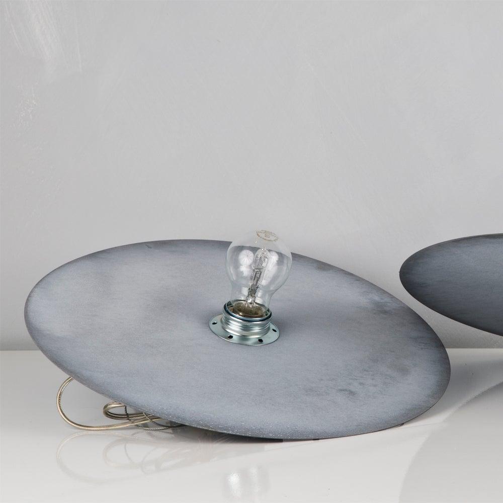 Image of Zinc disc pendant