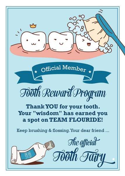 Image of Tooth Fairy Card