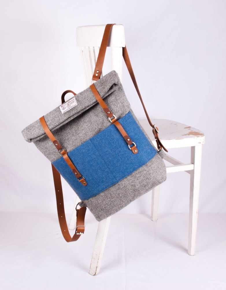 Image of Harris Tweed Grey Roddy Backpack