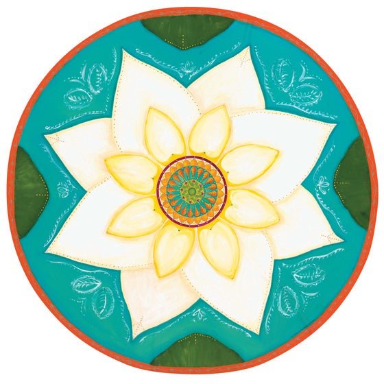 "Image of ""Spiritual awakening""- White Lotus Meditation Mat"