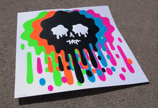 Image of Oliver Hibert Skull screen prints