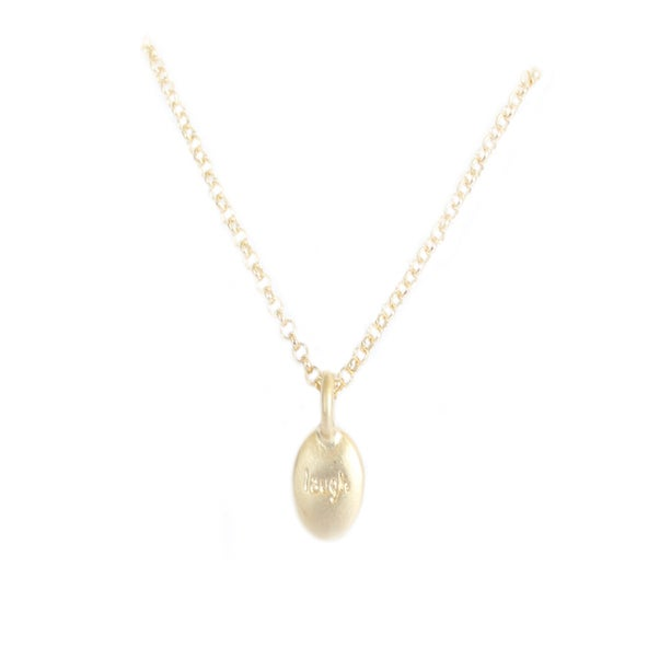 "Collier ""Laugh"" plaqué en or 14k"