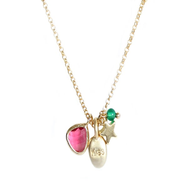 "Collier multi-charms ""Kiss"""