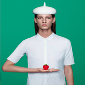 Image of WHITE PVC BERET