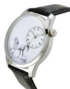 Image of Senior Creative painting freehand horse dial quartz watch  (WAT0083)