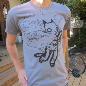 Image of Grey Skeleton Cat Shirt