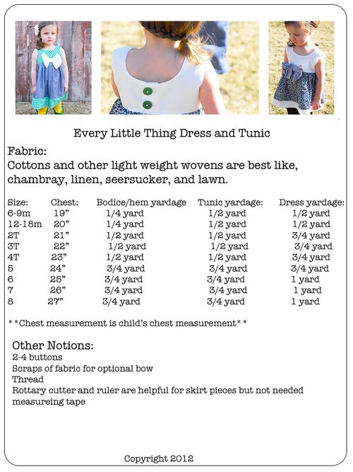 Image of Every Little Thing Dress/Top 6m-8y