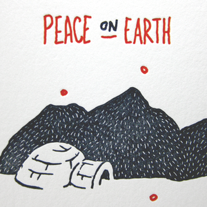 Image of Snowy Inuit - letterpress christmas card