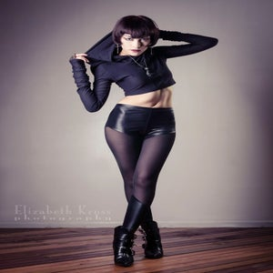 Image of Black sheer and matte leggings