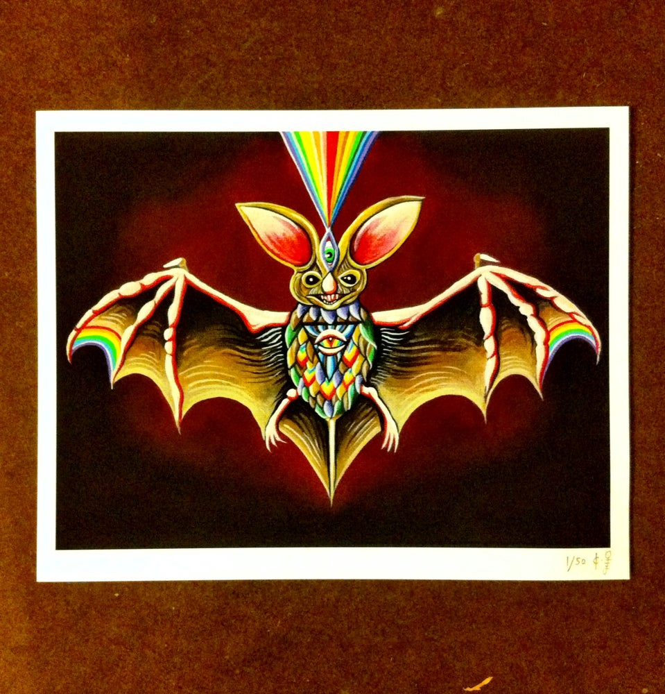 Image of Bat Shit Cray PRINTS! with hand painted accents